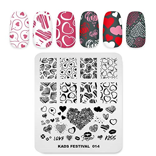 Alexnailart Nail Art Stamping Plate Festival de Navidad Flores Geometría Plantilla Natural Imagen Placa Nail Art Tools (FE014)