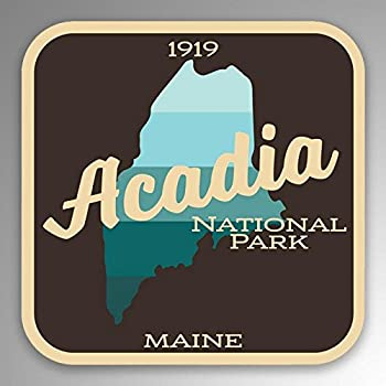 Rogue River Tactical Acadia National Park Sticker 5 Round Car Auto Decal Maine