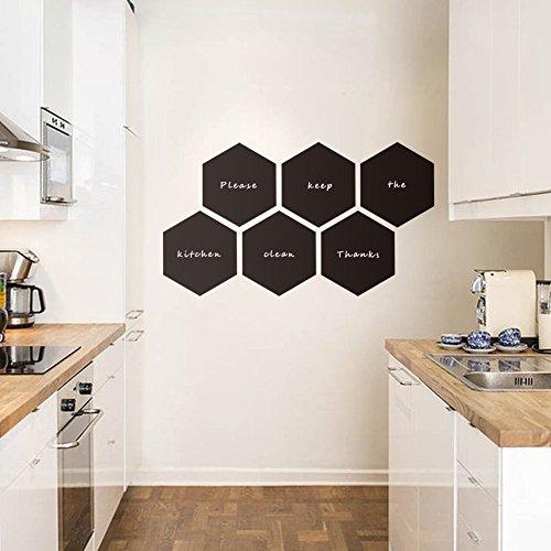 ASENART Moda diseñado Pizarra Hexagonal Color Negro