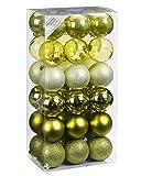Inge-glas Kunststoff Kugelbox 36 TLG. 6cm (Grün Mix, Kugelbox 36tlg. 6cm)