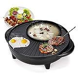 WANGJIANG Elettrodomestici Hot Pot 涮 alla griglia Hot Pot Stove Integrato Coreano Multi-Funzione Elettrico Hot Pot Barbecue Piastra Barbecue Macchina Antiaderente Senza Fumo
