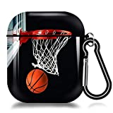 Basketball Hoop AirPods Case Cover,Soft TPU AirPods Case 2&1 Shockproof Silicone Waterproof Protective AirPods Skin Cover Protective Case for Airpods 1st/2nd Charging Case For iPhone X/XS/XR/Xs MAX/7/