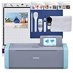 SCAN DRAWINGS AND MATERIALS: Brother ScanNCut is the only cutting machine series with a built-in scanner. Scan your drawing to convert it to a cut file, directly cut printed stickers, and precisely place designs without counting blocks STUNNING DIY P...