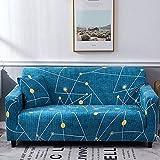 AYWJ Fundas de Sofá Elasticas de 1 2 3 4 Plazas Universal Funda Cubre Sofas Ajustables, Antideslizante Protector Cubierta de Muebles (Color : Color 1, Size : AA 235-300+BB 235-300cm)