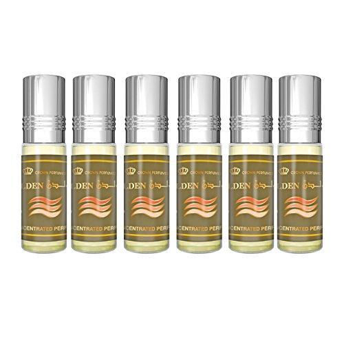 Golden Parfüm Oil - 6 x 6ml by Al Rehab