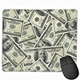 100 Dollar Money Mouse pad Gaming Non-Slip Rubber Base MousePads for Laptop Computers Office Home Desk Accessories