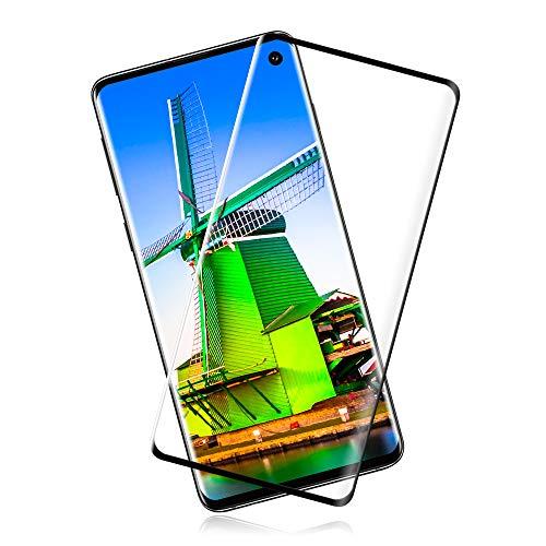 Protector de Pantalla de Vidrio Templado para Samsung Galaxy S10 [2 Unidades] [Cristal Templado] [Dureza 9H] [HD Transparente] [Anti-Huella Digital]