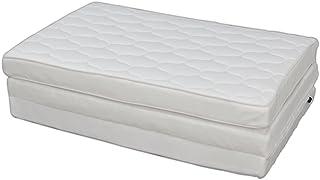 アイリスオーヤマ 洗える エアリー マットレス シングル ハイグレード 三つ折り 抗菌防臭 厚さ9cm リバーシブル 通気性 体圧分散 高耐久性 ホワイト HG90-S