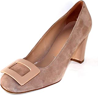 Ron White Womens Vietta in Nude Kid Suede//Patent Leather Size 38 M