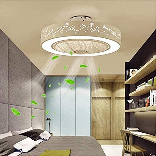 Ventilador de techo con ventilador de iluminación Luz de techo Luz moderna Luz Ajustable Ajustable Velocidad de viento Tranquilo Control Remoto Techo Dimmable Lámpara de Techo Dormitorio