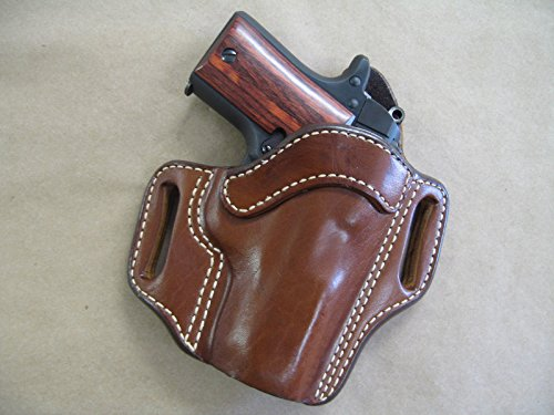 Azula OWB Leather 2 Slot Molded Pancake Belt Holster for Kimber Micro 9 9mm CCW TAN RH