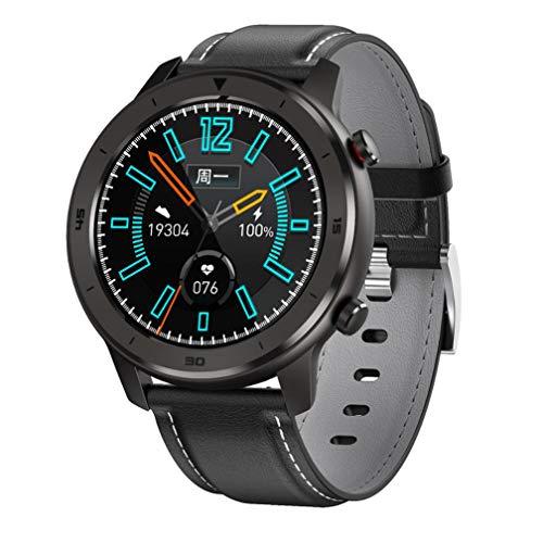 Boyuan Reloj Inteligente DT78 para la Mujer de los Hombres de presión Monitor de Ritmo cardíaco Sangre Reloj Bluetooth 4.0 iOS Android Reloj Deportivo,Gris