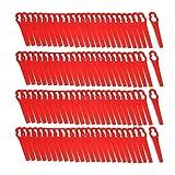 Asiproper Juego de 100 cuchillas de repuesto para recortadora Lawn FRTA 20 A1 Lidl IAN 282232 (rojo)
