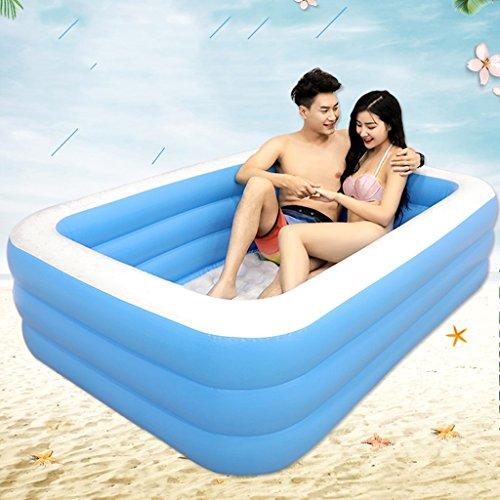 Bañeras con Jacuzzi Inflable Adultos hogar con Estilo cómoda Plegable Inflable para Dos Personas Passion Inflable Azul para aliviar la Fatiga