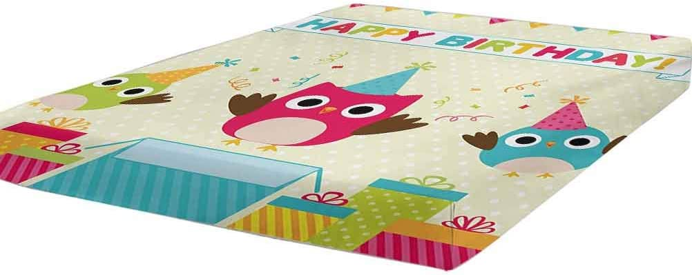 Kids Birthday Bedding Fitted Sheet Twin XL Brand Cheap Sale Venue Bab Chubby Size Happy Free shipping anywhere in the nation