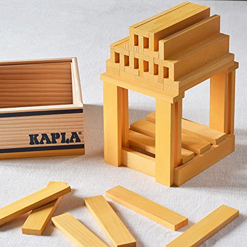 Kapla 9000156 Holzplättchen 40-teilig in Box, Gelb - 4