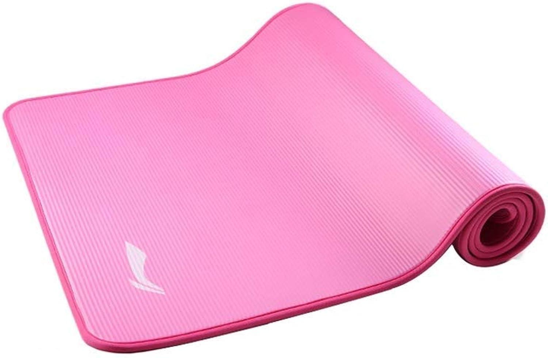 FS Sportmatte, Verbreiterte Verdickung Fitnessmatte Anfnger Mnner Und Frauen Training Fitnessmatte Yoga Matte 183 × 80cm, Dicke 10mm