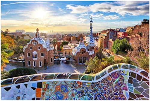 GXJAWYZ Rompecabezas Adultos 1000 Piezas Puzzle de Madera Juegos Educativos DIY Decoraciones para el Hogar Barcelona 50x75cm