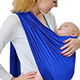 Baby Water Ring Sling and Wrap Carrier for Infant, Newborn Comfort & Toddler, Breathable Quick Dry Mesh Fabric, Adjustable, Perfect for Summer, Pool, Beach & Shower Royal Blue