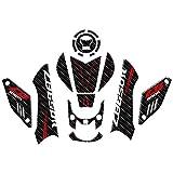 Patrón Tanque de la Motocicleta Pegatina de tracción Knee Pad Grip calcomanía Cero for la prevención CB650R CB 650R 2019 (Color : 1 Set)