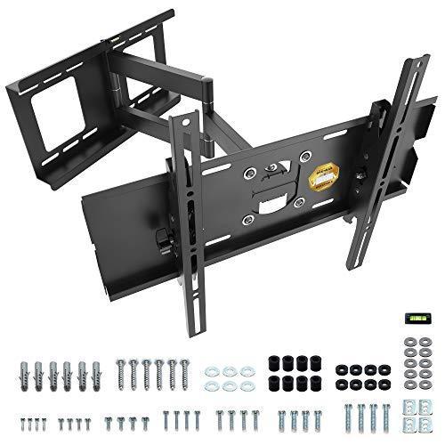 RICOO R03, TV Wandhalterung, Schwenkbar, Neigbar, Universal 32-65 Zoll (81-165cm), TV-Halterung, für Curved LCD LED Fernseher, VESA 200x200-400x400