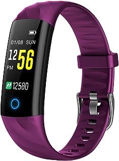 Lixada Smart Bracelet IP67 Waterproof Swim Fitness Tracker Health Monitor Heart Rate Blood Pressure Blood Oxygen Step Calo...