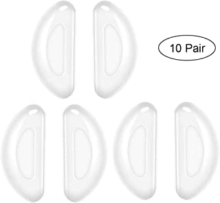 Eyeglass Nose Pads AOLVO 7mm Sunglass Spectacle Glasses Nose Pads Soft Silicone Adhesive Nose Pads Set Stick On Anti-Slip Nosepads For Eyeglass Glasses Sunglasses (Clear, 10 Pairs)
