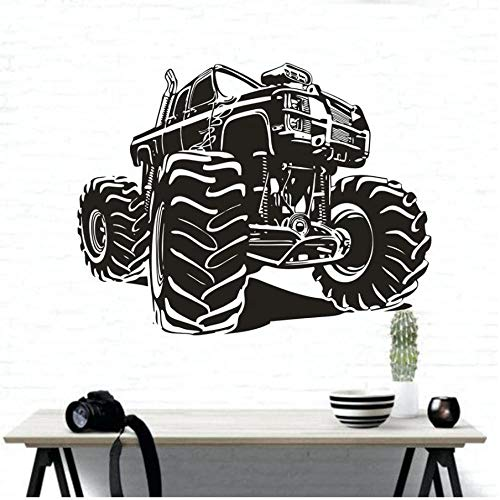 MUXIAND Mountain Racing Auto Vinyl Muursticker Truck Design Muursticker Home Garge Stickers Racing Truck Poster 74x57cm