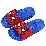 Hflyy Pantoufles Garçons Enfants Spiderman Flops Chaussures Salle Bain D'intérieur Sandales Plage D'été Fond Souple Chaussures Bateau Légères Casual Fashion Water Shoe,Blue-26/Inner Length 17cm