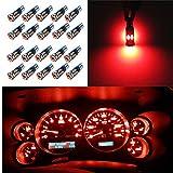 WLJH Rouge T5 Led 37 74286 2721 2723 12505Ll Ampoule Plus Petite - Facile à Installer Pour Tableau De Bord...