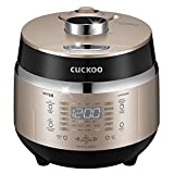 Cuckoo Electric Induction Heating Rice Pressure Cooker (3-Cup) - Full Stainless Interior with Non-Stick Coating - 3-Language Voice Navigation and LED Screen with Touch Selection Menu - Premium Quality