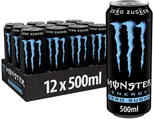 Monster Energy Zero Sugar, 500 ml, Einweg-Dose, mit klassischem Energy-Geschmack und Zero Zucker