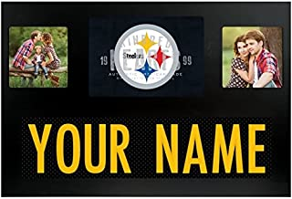 Pittsburgh Steelers NFL Custom Jersey Nameplate and Logo Picture Frame