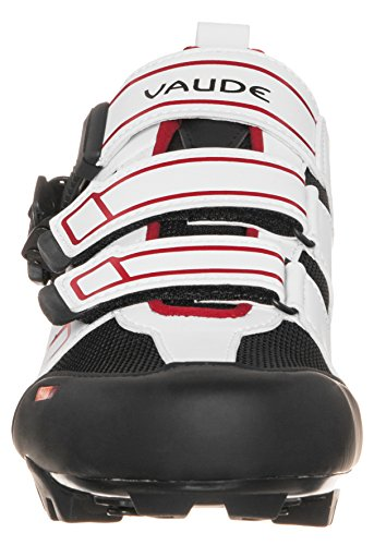 Vaude Uni Exire Advanced RC Radschuhe-Rennrad, weiß (White/red 079), 44