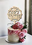 Happy Birthday Name Age Customized Personalized Cake Topper Acrylic Food Safe For Party