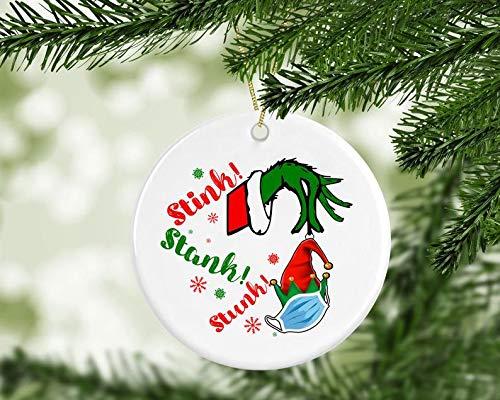 MugStink Stank Grinch OrnamentSocial Distancing Grinch 20202020 Christmas Gift2020 Pandemic GrinchGrinch Quarantine Ornament 2020
