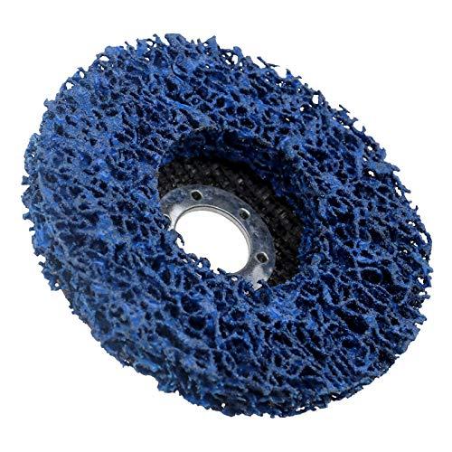 "OTOTEC Poli tira de pintura de rueda eliminación de óxido de calidad limpia disco amoladora angular 115mm 4.5"" azul"
