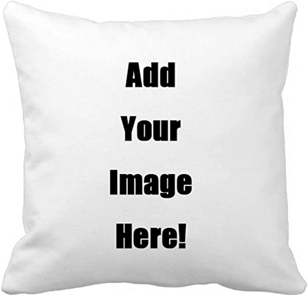 Popeven Your Photo Text Here Custom Pillow Cover Personalized Throw Pillow Case 20 X 20 Inches