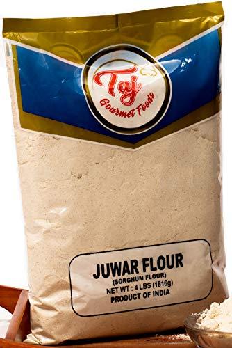 TAJ Premium Sorghum Flour Juwar Jowar Flour, 4-Pounds