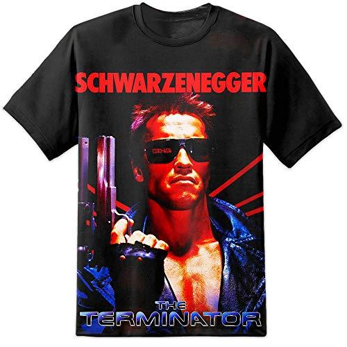 DPX-1 Terminator Film Retro Alle -All Bedruckt Style T-Shirt S-2XL Arnie T800 Genisys Schwazenegger - Weiß, Large