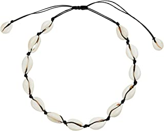 SXNK7 Natural Shell Necklace Choker for Women Girl Bead...