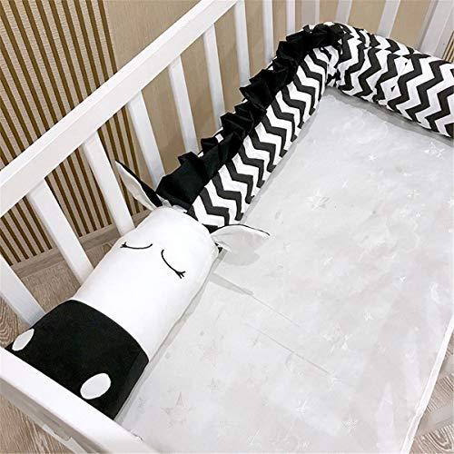 Almohada Cojín de algodón bebé Infantil Cocodrilo Zebra en Forma de Cebra Cuna Cuna Protector de Parachoques Guangzhouweiyukejiyouxiangongsi (Color : 3M)