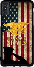 FIDIKO US Navy Seals Soldier US Flag Case Cover Compatible iPhone Xs Max, Cool Hard Plastic Tough | Snap On Phone Shell Compatible iPhone Xs Max