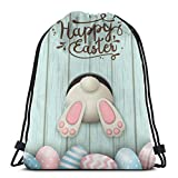 Borsa per allenatori con coulisse, zaino da viaggio, borsa da palestra, borse unisex con coulisse, borse a tracolla, zaino casual, zaino scolastico, uova di Pasqua felice, borsa per cinch