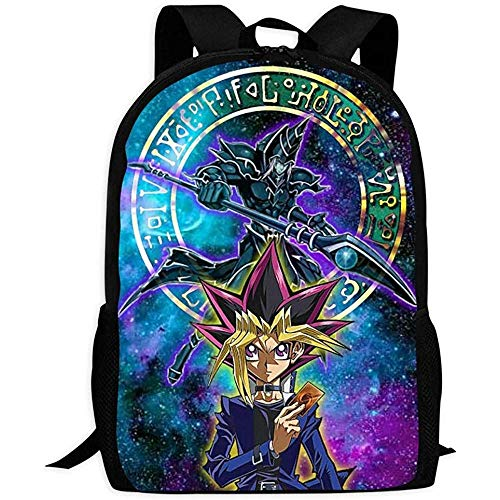 hengshiqi Rucksack Schultasche,Backpack, Lightweight Backpack,Yu-Gi-Oh Lightweight Multi-Purpose University Campus Laptop Bag for Girls, Boys, Children and Adults