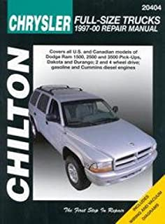 NOS-CH20404 Dodge Ram 1500 2500 3500 Pick-ups Dakota Durango Repair Manual 1997-2000 Chilton
