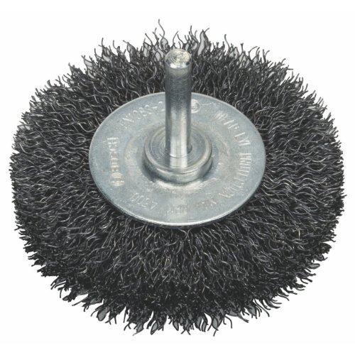Bosch 2608622053 Shank Wire Wheel Crimped Wire, 0.3mm Steel, 75mm x 6mm