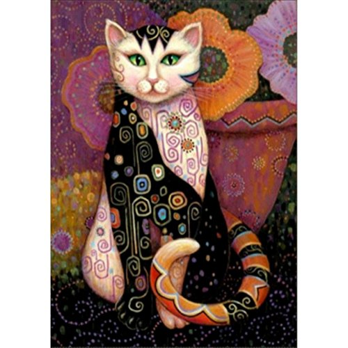 KAYI 5D Diamond Painting Animal Cat Full-drilled Rhinestone Hand Craft Painting Home Decor