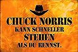 Dicho Chuck Norris más Rápido Stehen Placa de Metal Letrero de Metal Placa de Metal Signo de Metal Tin Sign Arqueado Barnizado 20 X 30CM