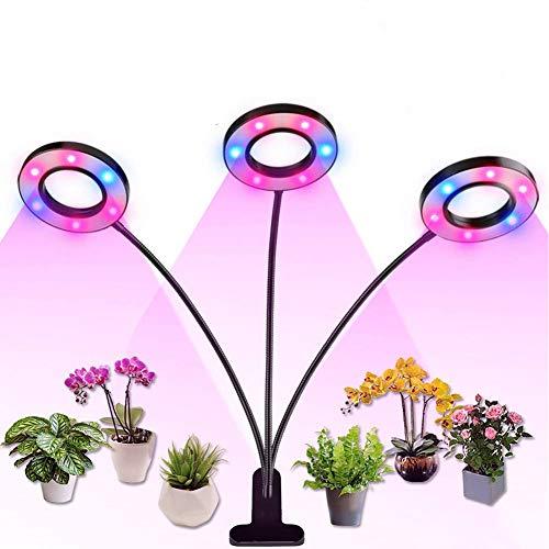 Led Pflanzenlampe Vollspektrum Einstellbare Helligkeit Pflanzenlicht Pflanzenleuchte Wachstumslampe Grow Lampe Zimmerpflanzen für Gewächshaus Sämlinge und Sukkulenten Gartenbau,30W